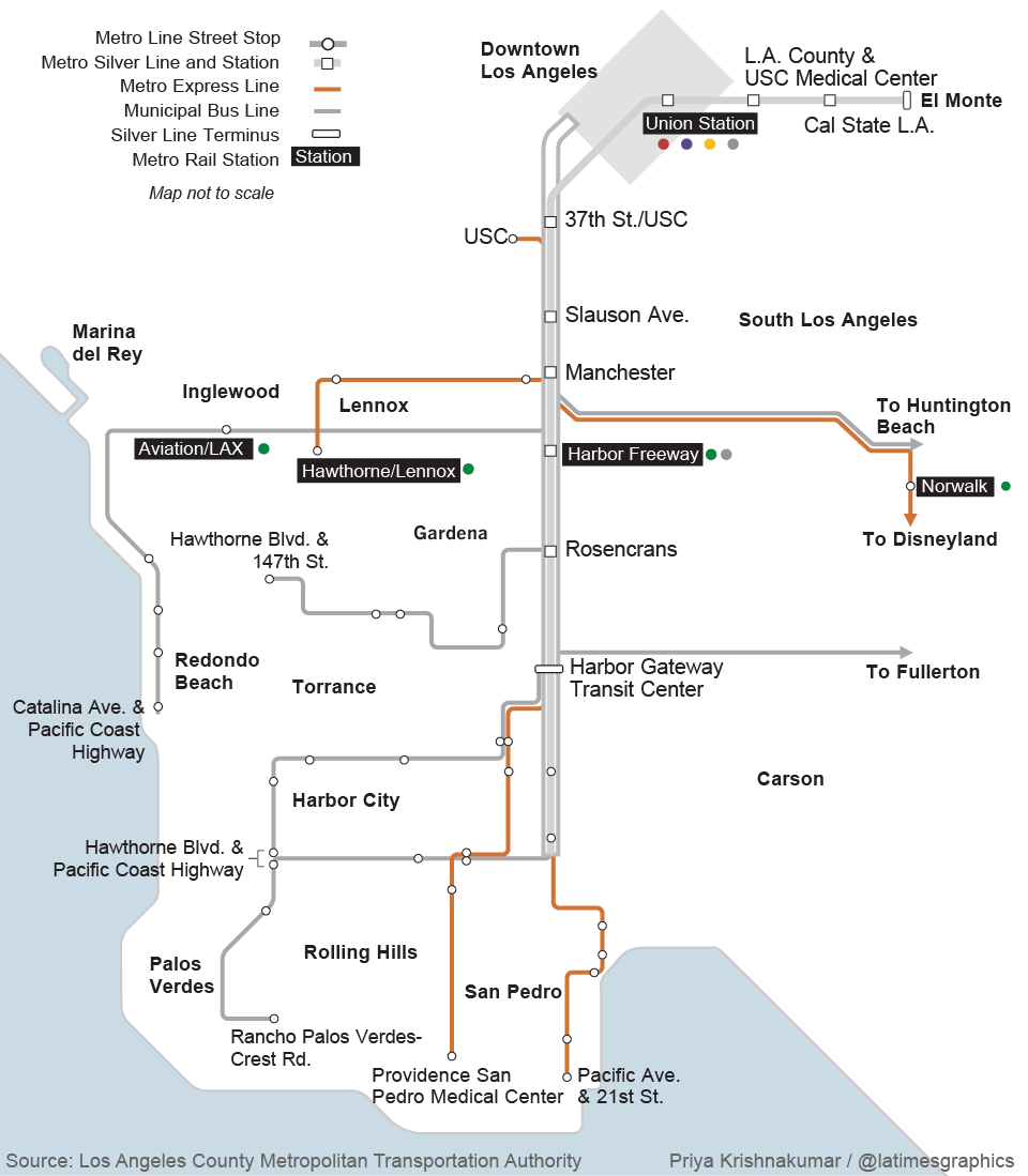 Map of Harbor Transitway