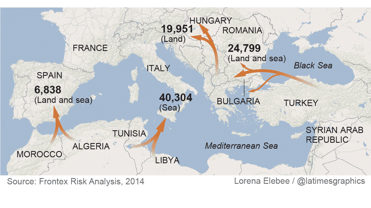 How migrant boat deaths became a crisis in europe la times what is the migrant journey like sciox Images