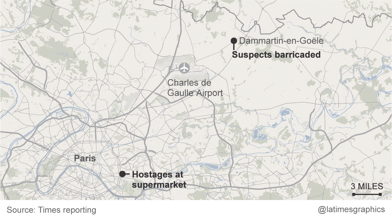 Tracking the Charlie Hebdo attack  LA Times