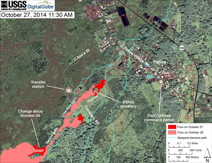 See the path of the Kilauea volcano lava day by day  LA Times