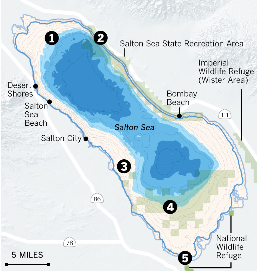 Drought Drawdowns And Death Of The Salton Sea LA Times - Salton sea on us map