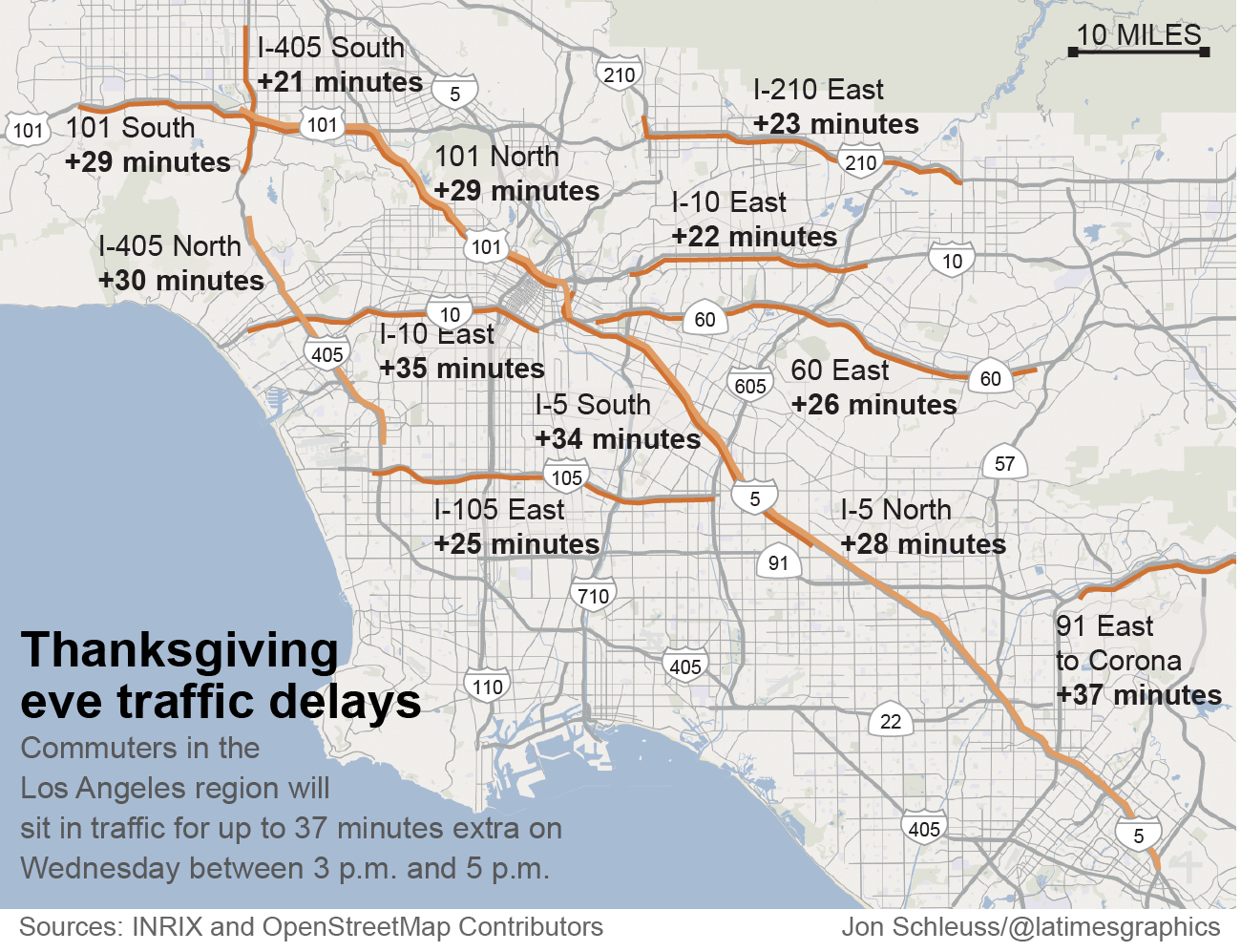 Day before Thanksgiving commute