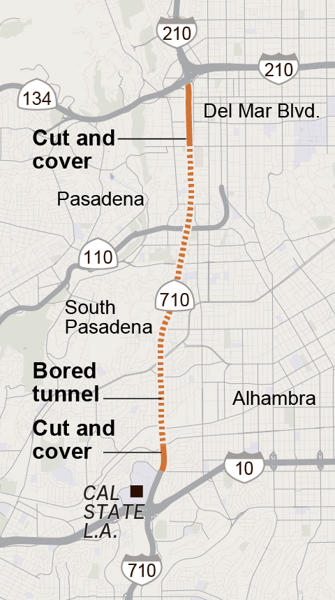 Cost Less Auto >> Can a $5.4-billion tunnel plan fix the notorious 710 gap ...